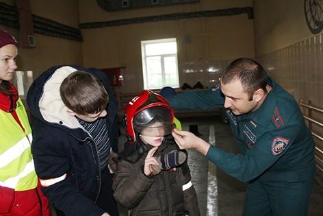 Учащиеся Быховского ЦКРОиР посетили городскую пожарную аварийно-спасательную часть