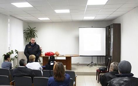 На базе Быховского РОЧС прошло мероприятие «Трезвый взгляд на безопасность»