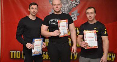 В Быховском ФОЦ 23 февраля отметили соревнованиями по поднятию штанги (фото)