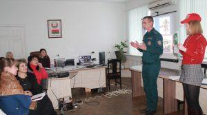 Спасатели Быховщины встретились с трудовым коллективом районного потребительского обществ