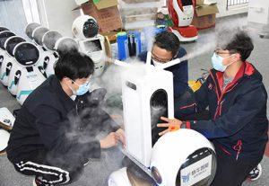 В китайском городе Циндао стали использовать роботов-дезинфекторов