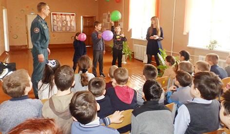«Юный спасатель» в гостях у быховских школьников