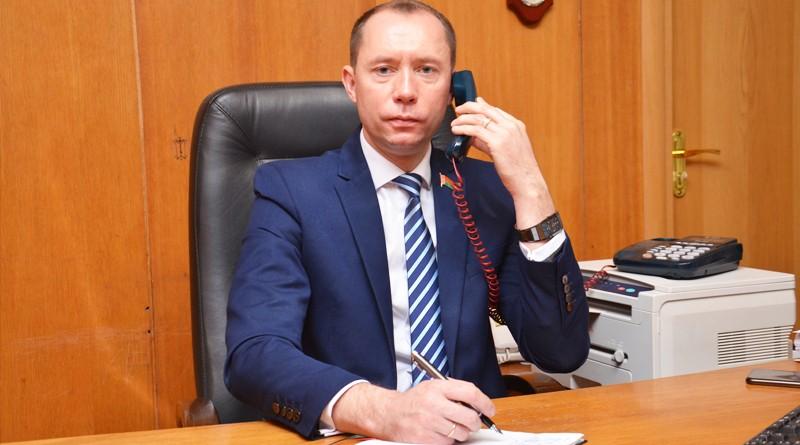 Депутат Палаты представителей Национального собрания РБ Сергей Сыранков посетил Быховщину с рабочим визитом