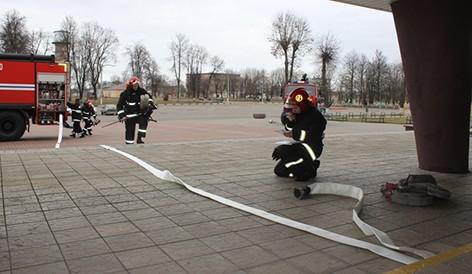Работниками Быховского РОЧС организованы и проведены тактико-специальные занятия