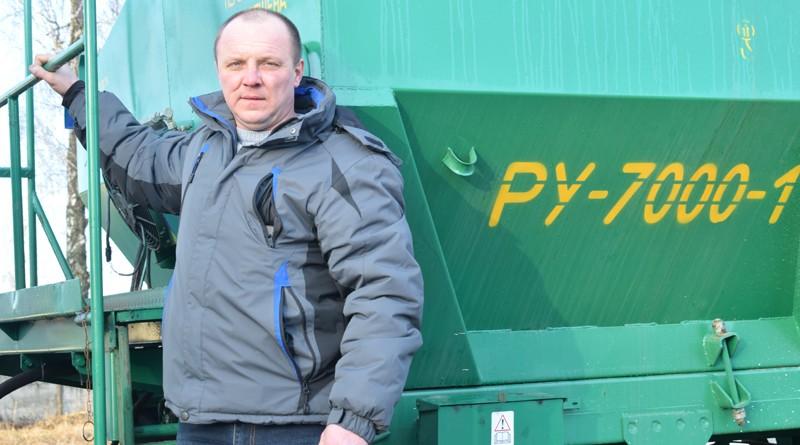 В ОАО «Быховрайагропромтехснаб» одним из первых в поле выехал Вячеслав Кадушкин