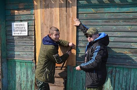 Быховчане вышли на субботник (фото)