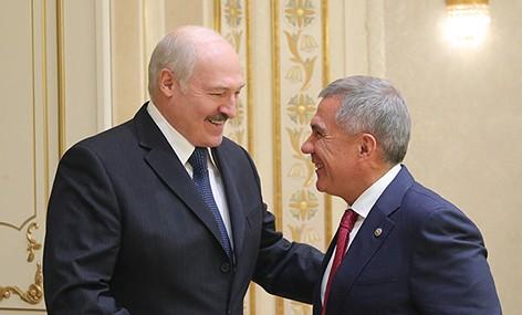 Лукашенко: в Беларуси высоко ценят исторически сложившиеся братские отношения с Татарстаном