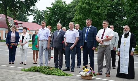 Патриотическая акция «Звон скорби» прошла в Быхове (фото)