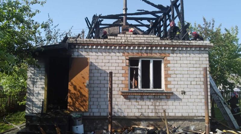 В Быховском районе ликвидирован пожар