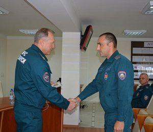 Дмитрий Красноперов награжден памятным нагрудным знаком  «165 год пажарнай службе»