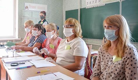 На Ворониновском участке для голосования №26